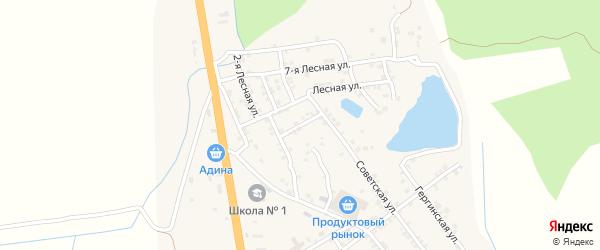 Лесная улица на карте села Герги с номерами домов