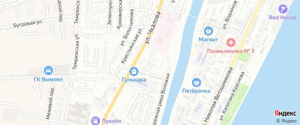 Медицинский переулок на карте Астрахани с номерами домов