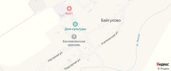 Улица Ольги Ырзем на карте села Байгулово с номерами домов