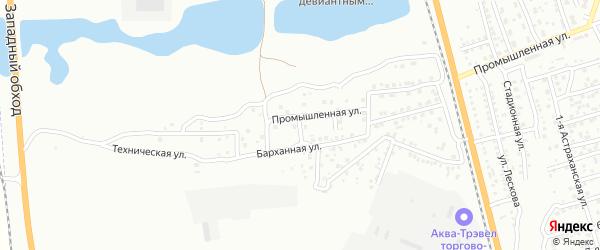 Промышленный 3-й переулок на карте Астрахани с номерами домов