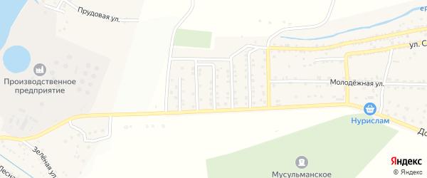 Башмаковская улица на карте села Татарской Башмаковки с номерами домов