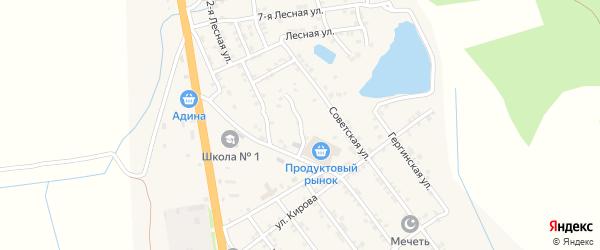 Родниковая улица на карте села Герги с номерами домов