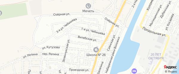 Сестрорецкая улица на карте Астрахани с номерами домов