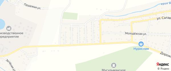 Приволжская улица на карте села Татарской Башмаковки с номерами домов