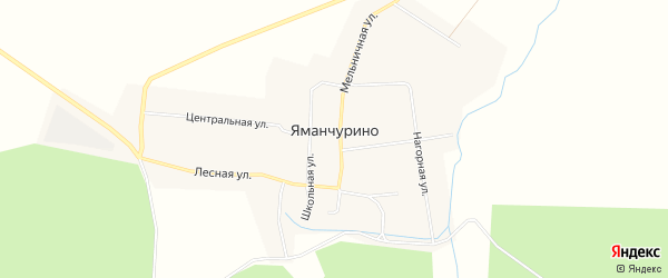 Карта деревни Яманчурино в Чувашии с улицами и номерами домов