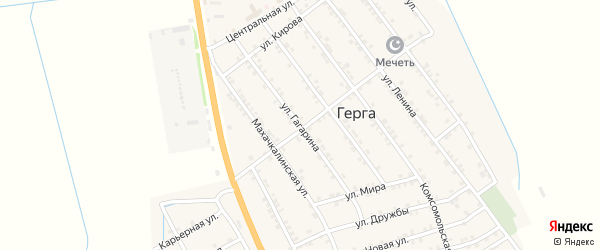 Улица Гагарина на карте села Герги с номерами домов