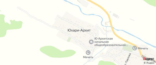 Лесная улица на карте села Юхари-Архит с номерами домов