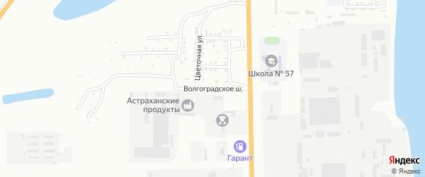 Улица Волгоградское шоссе на карте Астрахани с номерами домов