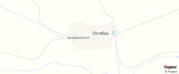 Октябрьская улица на карте выселков Октября с номерами домов