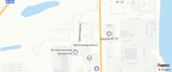 Кленовая улица на карте Астрахани с номерами домов