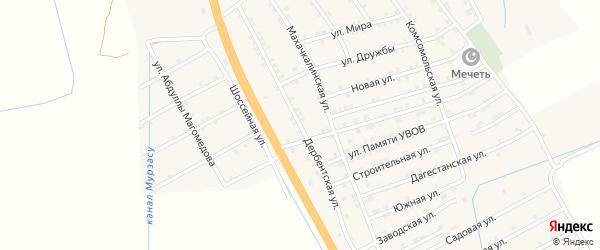 Дербентская улица на карте села Герги с номерами домов