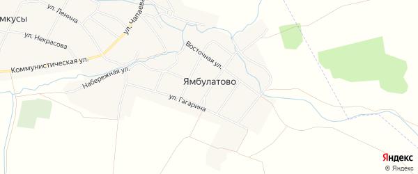 Карта деревни Ямбулатово в Чувашии с улицами и номерами домов