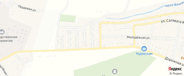 Астраханская улица на карте села Татарской Башмаковки с номерами домов