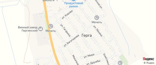 Пионерская улица на карте села Герги с номерами домов