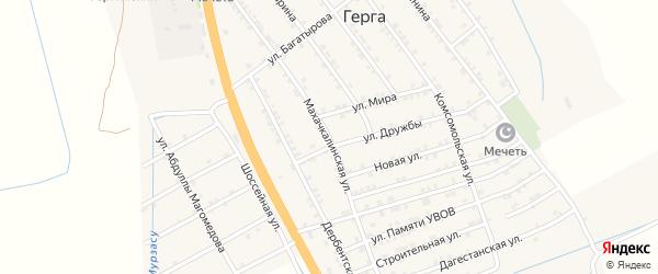 Махачкалинская улица на карте села Герги с номерами домов