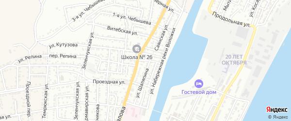 Трусовская улица на карте Астрахани с номерами домов