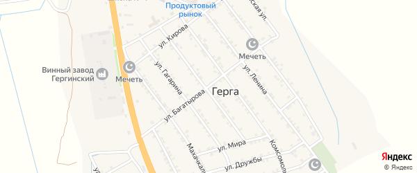 Улица Багатырова на карте села Герги с номерами домов