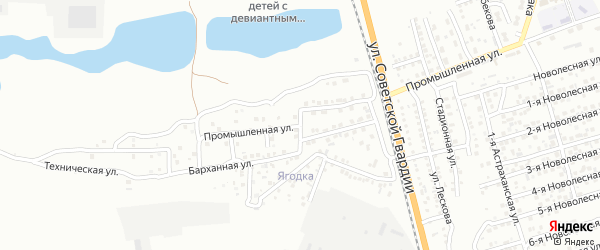 Промышленный 1-й переулок на карте Астрахани с номерами домов