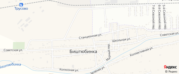 Станционная улица на карте Астрахани с номерами домов