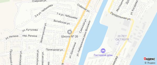 Улица Рихарда Зорге на карте Астрахани с номерами домов
