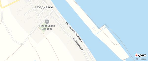 Улица Братьев Фоминых на карте Полдневого села с номерами домов