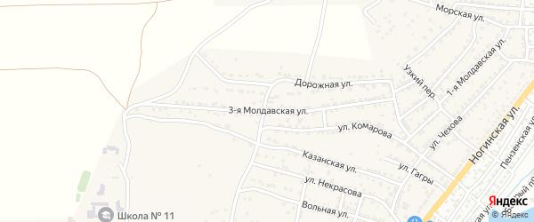 Молдавская 3-я улица на карте села Старокучергановка с номерами домов