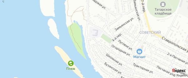 Школьный переулок на карте Астрахани с номерами домов