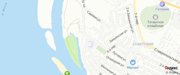 Поперечная улица на карте Астрахани с номерами домов