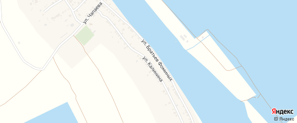 Улица Калинина на карте Полдневого села с номерами домов