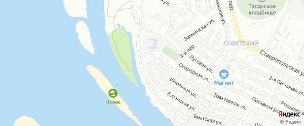 Республиканский переулок на карте Астрахани с номерами домов