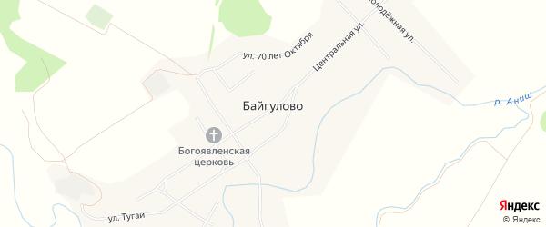 Карта села Байгулово в Чувашии с улицами и номерами домов