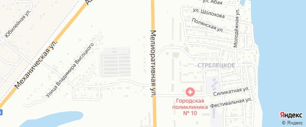 Мелиоративная улица на карте Астрахани с номерами домов