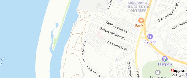 Степная 3-я улица на карте Астрахани с номерами домов