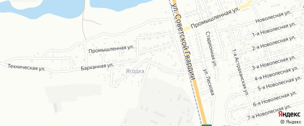 Тамариксовая улица на карте Астрахани с номерами домов