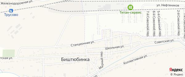 Сквозной 16-й переулок на карте Астрахани с номерами домов