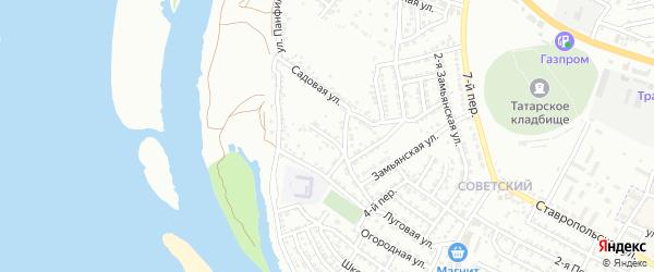 Советская площадь на карте Астрахани с номерами домов