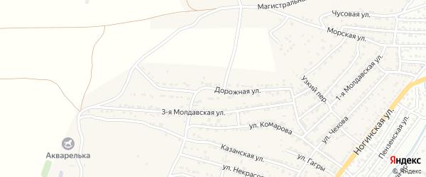 Дорожная улица на карте села Старокучергановка с номерами домов