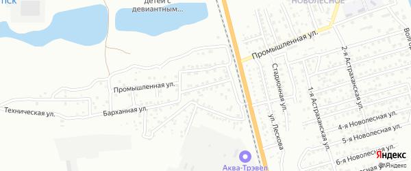 Промышленный 8-й переулок на карте Астрахани с номерами домов