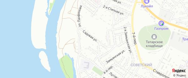 Садовая улица на карте Астрахани с номерами домов