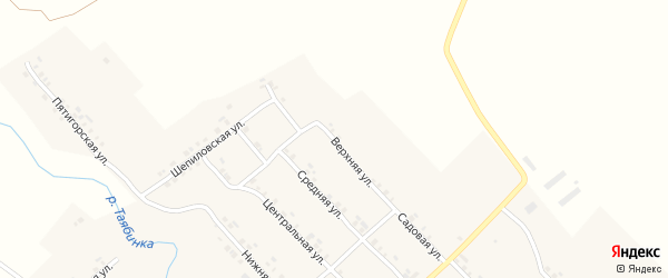 Верхняя улица на карте деревни Малой Таяба с номерами домов