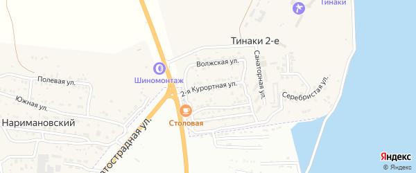 Курортная 2-я улица на карте поселка Тинаки 2-ые с номерами домов
