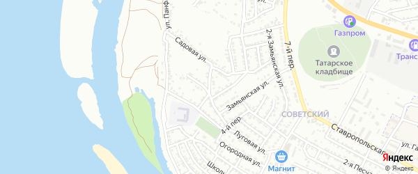 Восточная площадь на карте Астрахани с номерами домов
