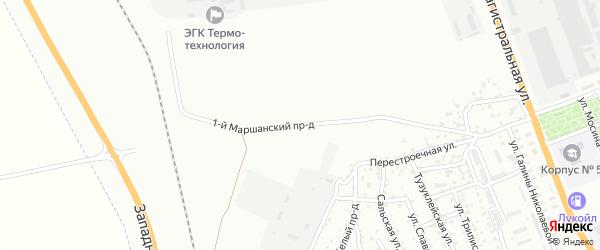 Маршанский 1-й проезд на карте Астрахани с номерами домов