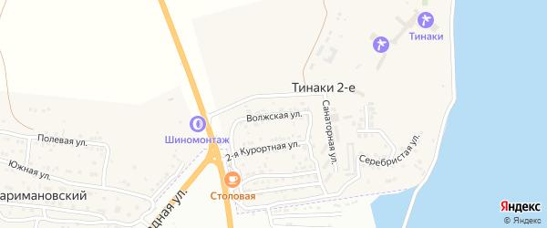 Волжская улица на карте поселка Тинаки 2-ые с номерами домов