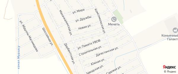 Улица 50 лет Победы на карте села Герги с номерами домов