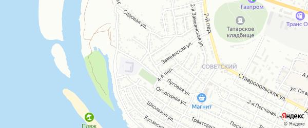 Луговая 4-я улица на карте Астрахани с номерами домов