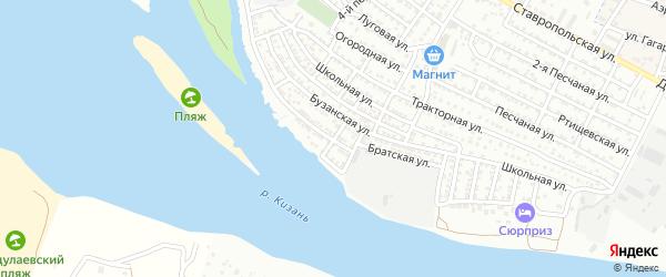 Шестой переулок на карте Астрахани с номерами домов
