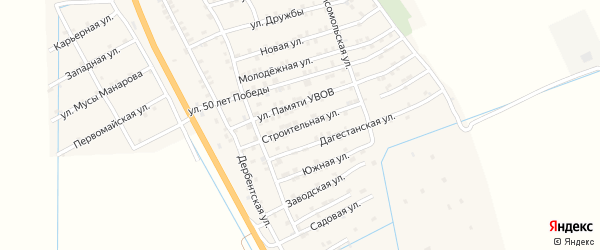 Строительная улица на карте села Герги с номерами домов