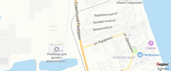 Улица Василия Клочкова на карте Астрахани с номерами домов