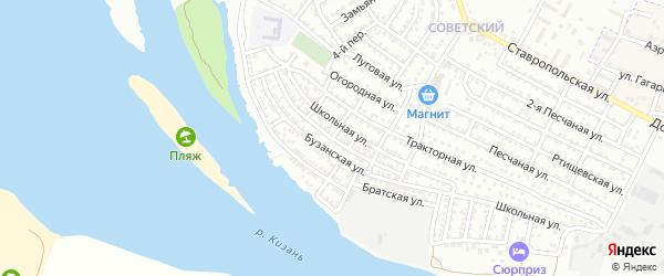 Краснофлотская улица на карте Астрахани с номерами домов